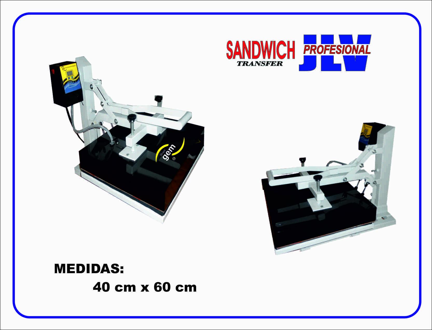 SUBLIMADORA JLV 40 CM X 60 CM