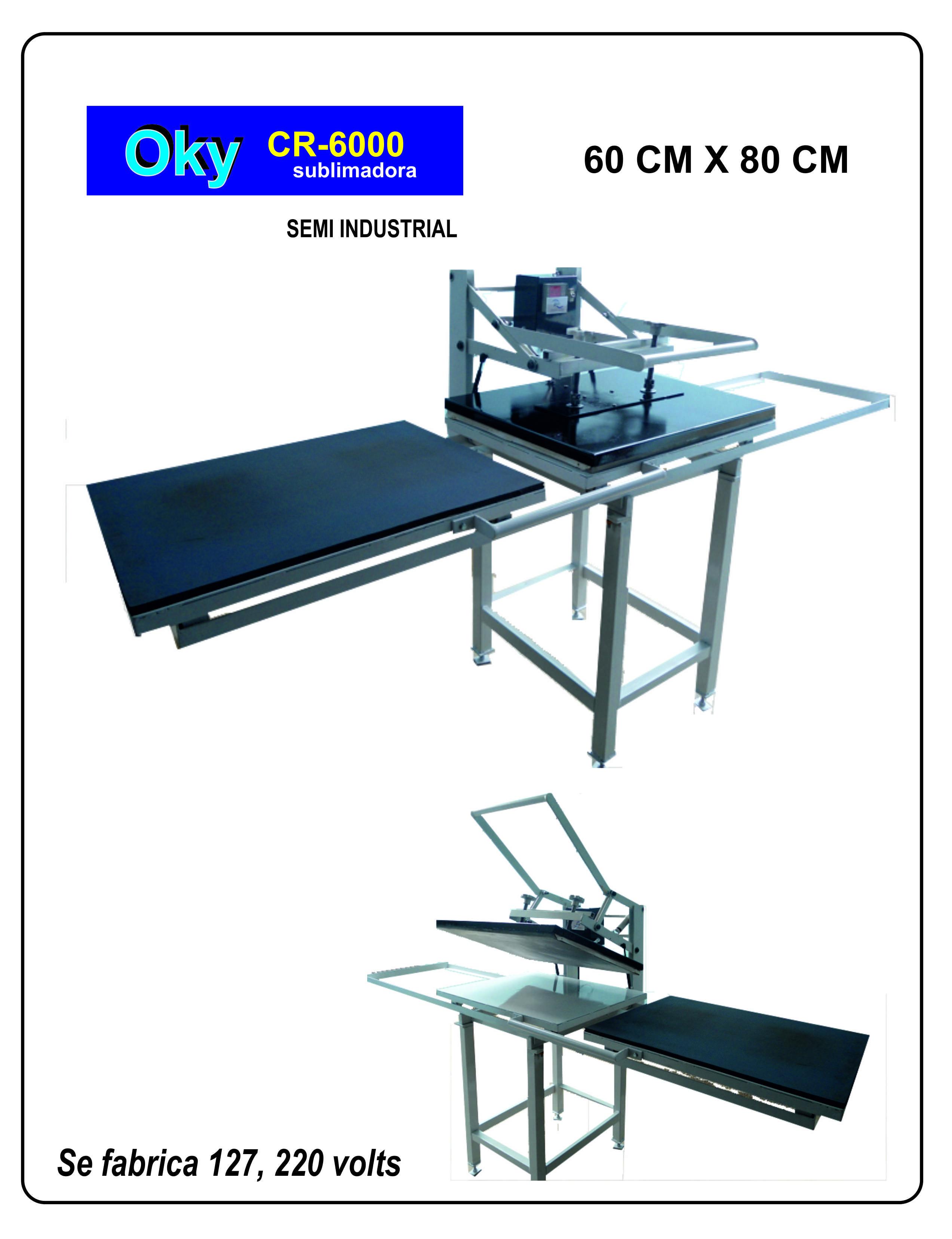 SUBLIMADORA OKY CR6000 60 CM X 80