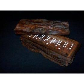 Dominós hechos a mano en genuina madera de palo fierro