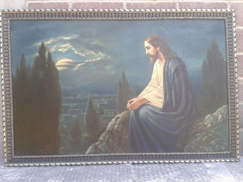 OLEO, JESÚS EN LA MONTAÑA.