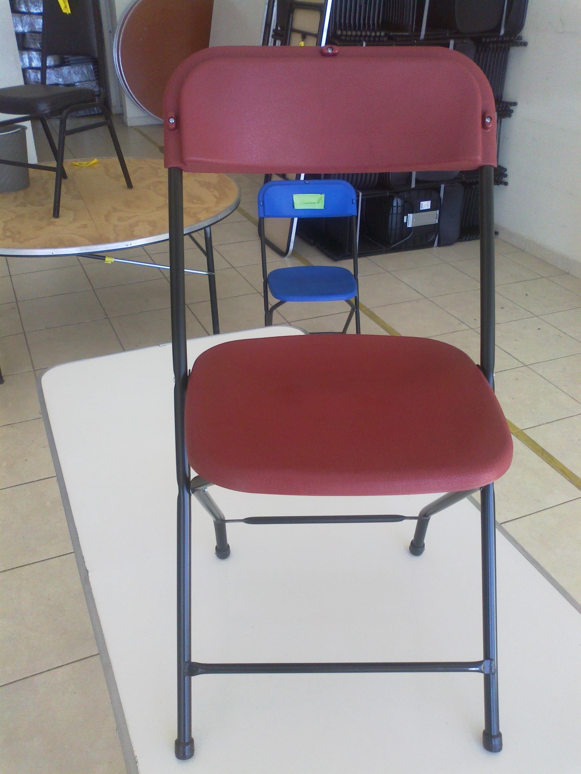 Venta de mobiliario para eventos sociales sillas y mesas for Precio de sillas plegables