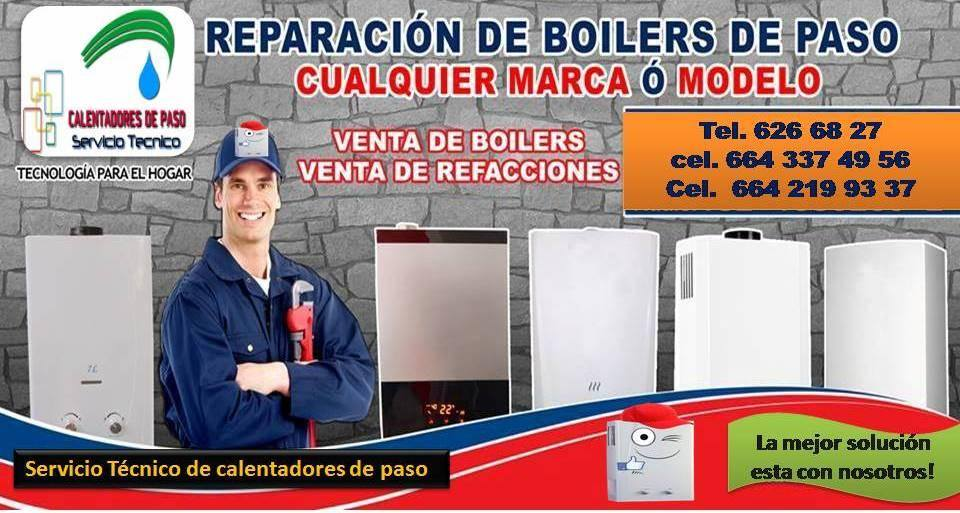 Servicio de reparación de boilers de paso bosch en Tijuana