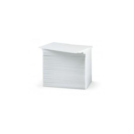 PAQUETE DE 100 TARJETAS BLANCAS DE PVC CR80.030