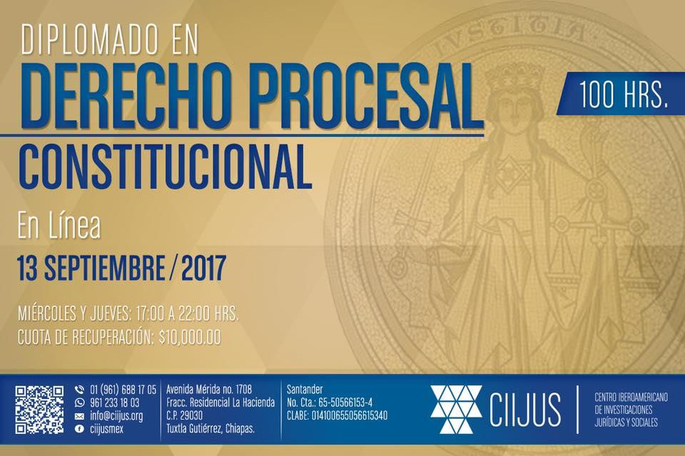 DIPLOMADO EN DERECHO PROCESAL CONSTITUCIONAL.
