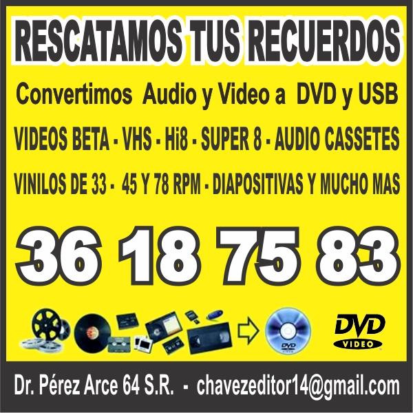 Dónde Pasan mis Cassettes a DVD y USB en GDL
