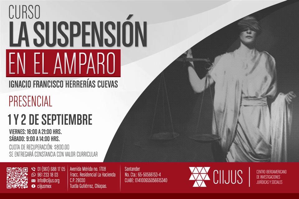 CURSO. LA SUSPENSIÓN EN EL AMPARO.
