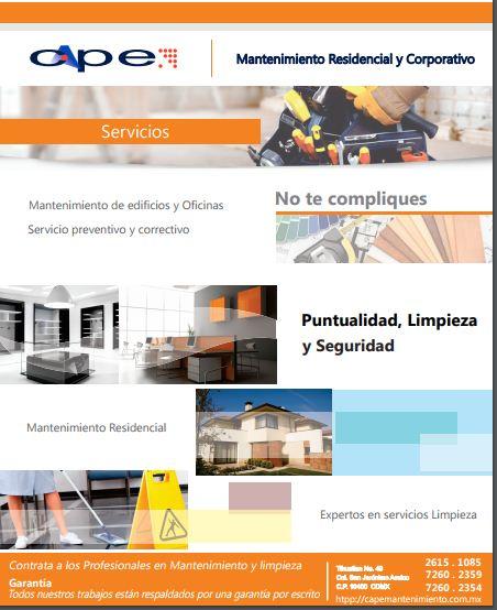 SERVICIOS DE LIMPIEZA Y MANTENIMIENTO. CAPEMANTENIMIENTO