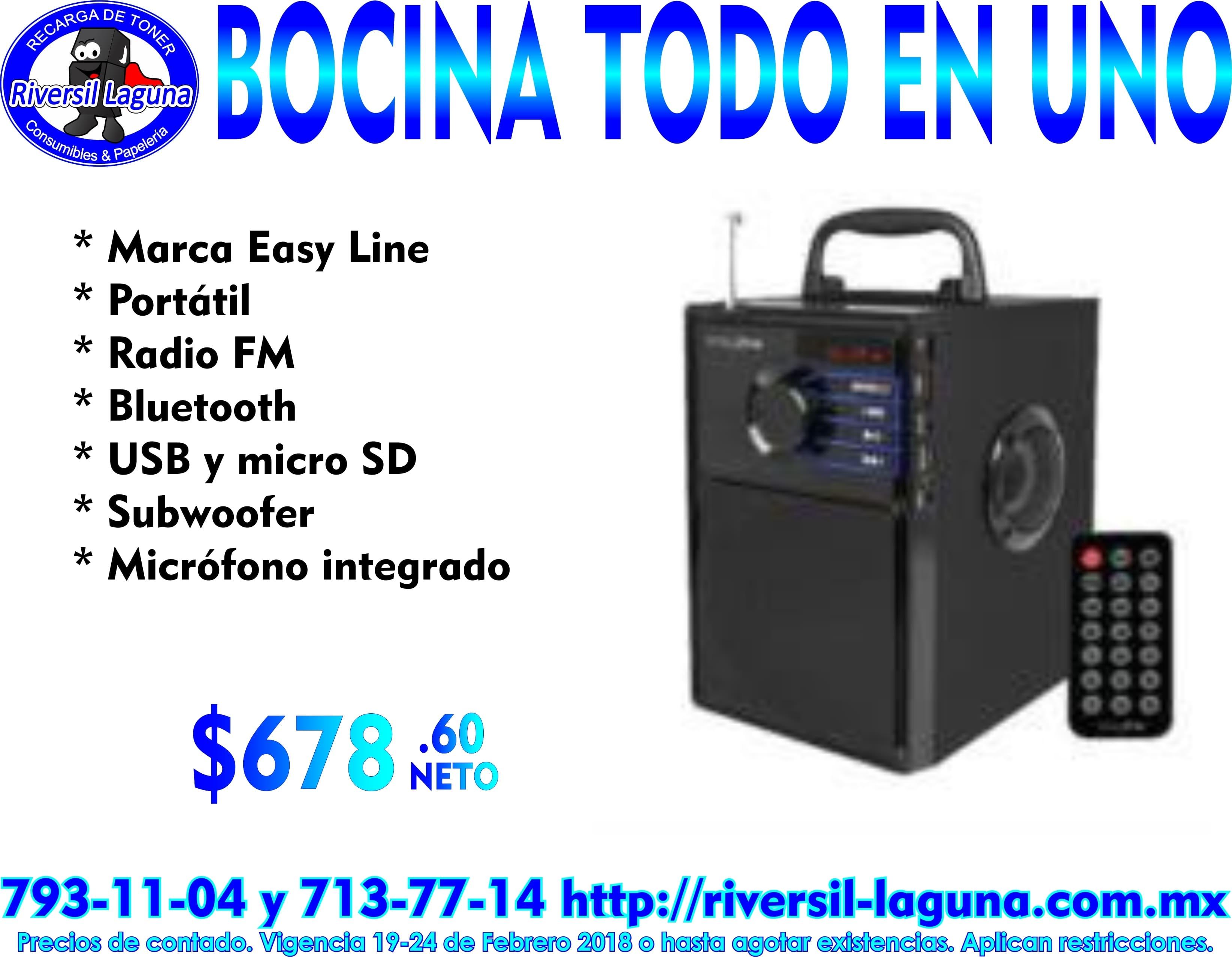 BOCINA TODO EN UNO EL-994589 EASY LINE