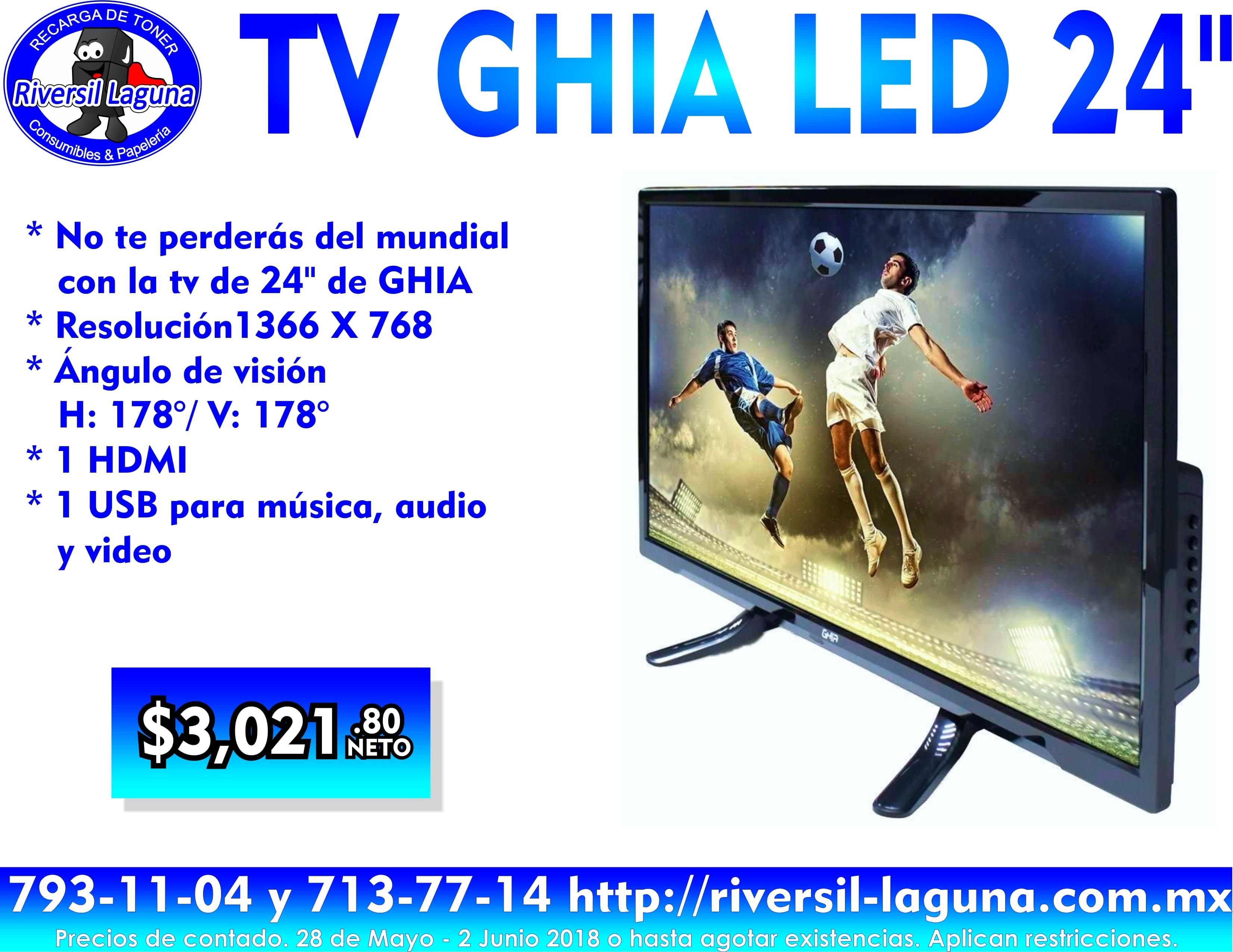 """TV GHIA LE DE 24"""""""