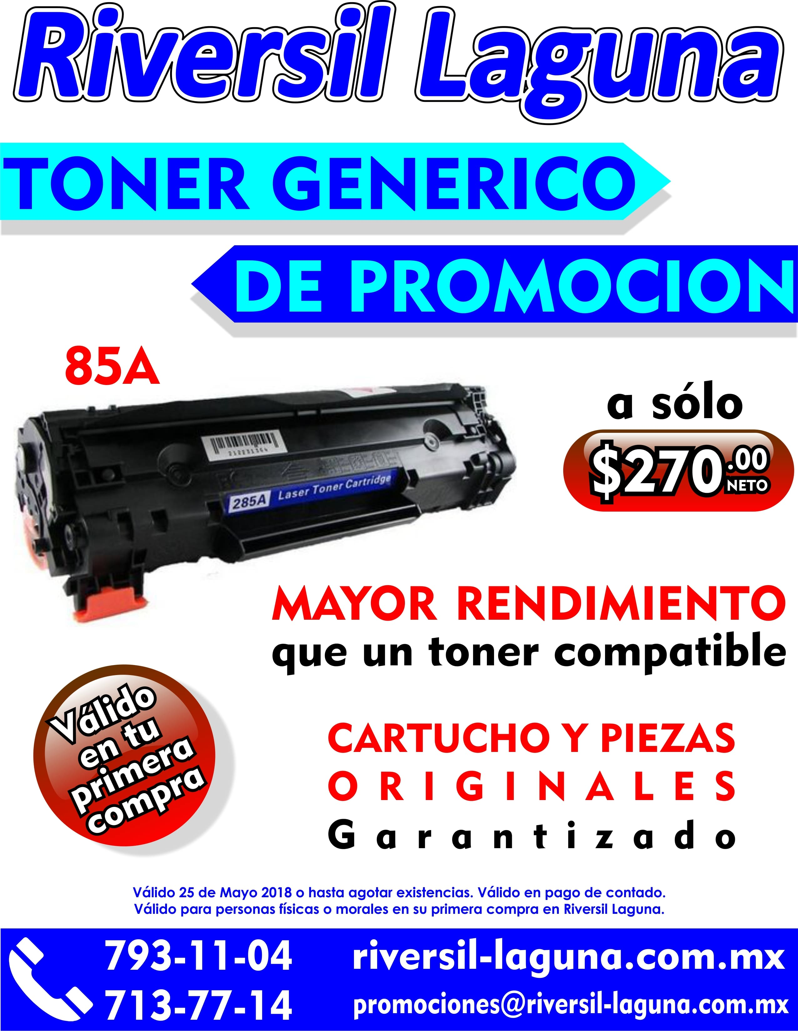 TONER GENERICO 85 A DE PROMOCION