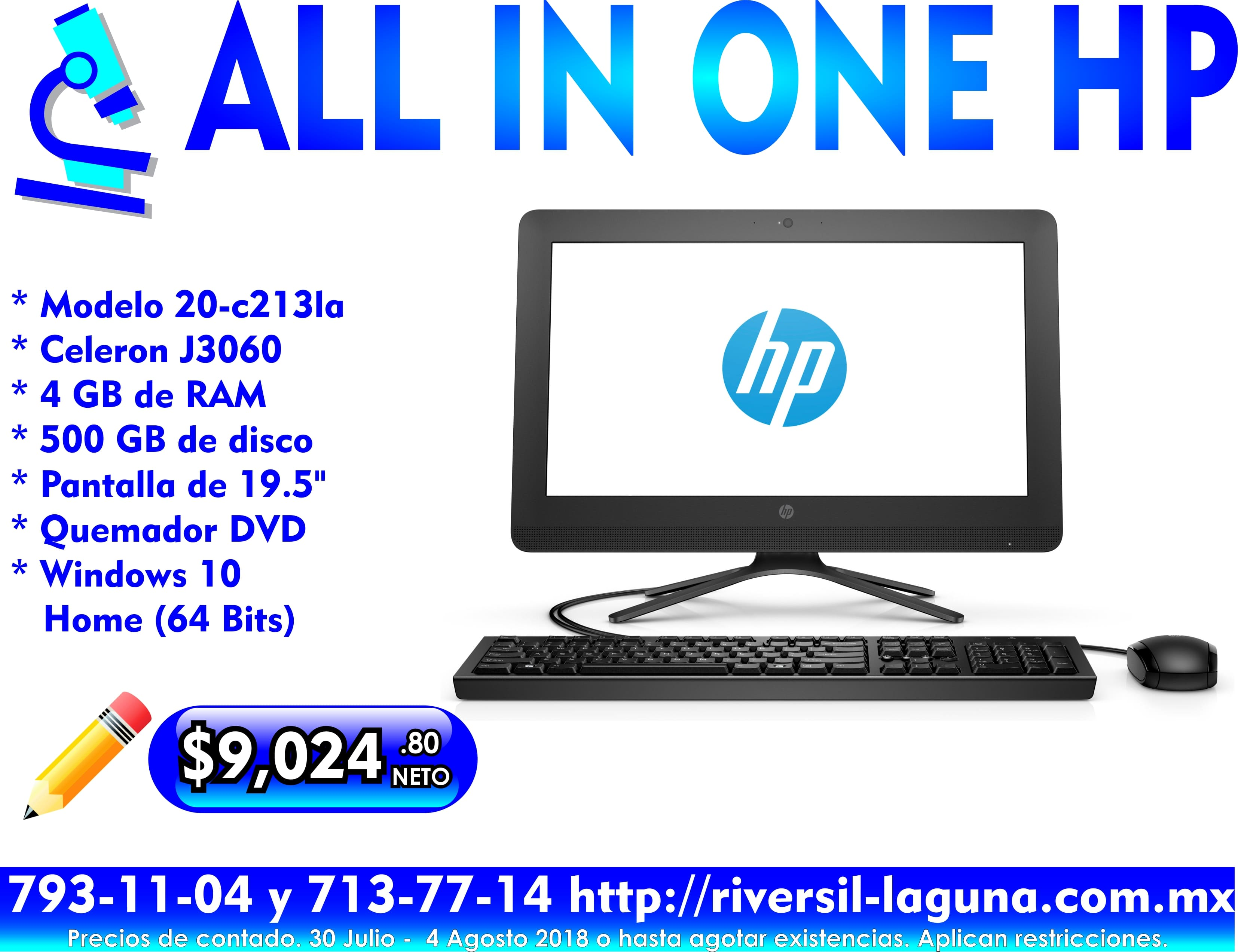 COMPUTADORA HP ALL IN ONE 20-C2131A