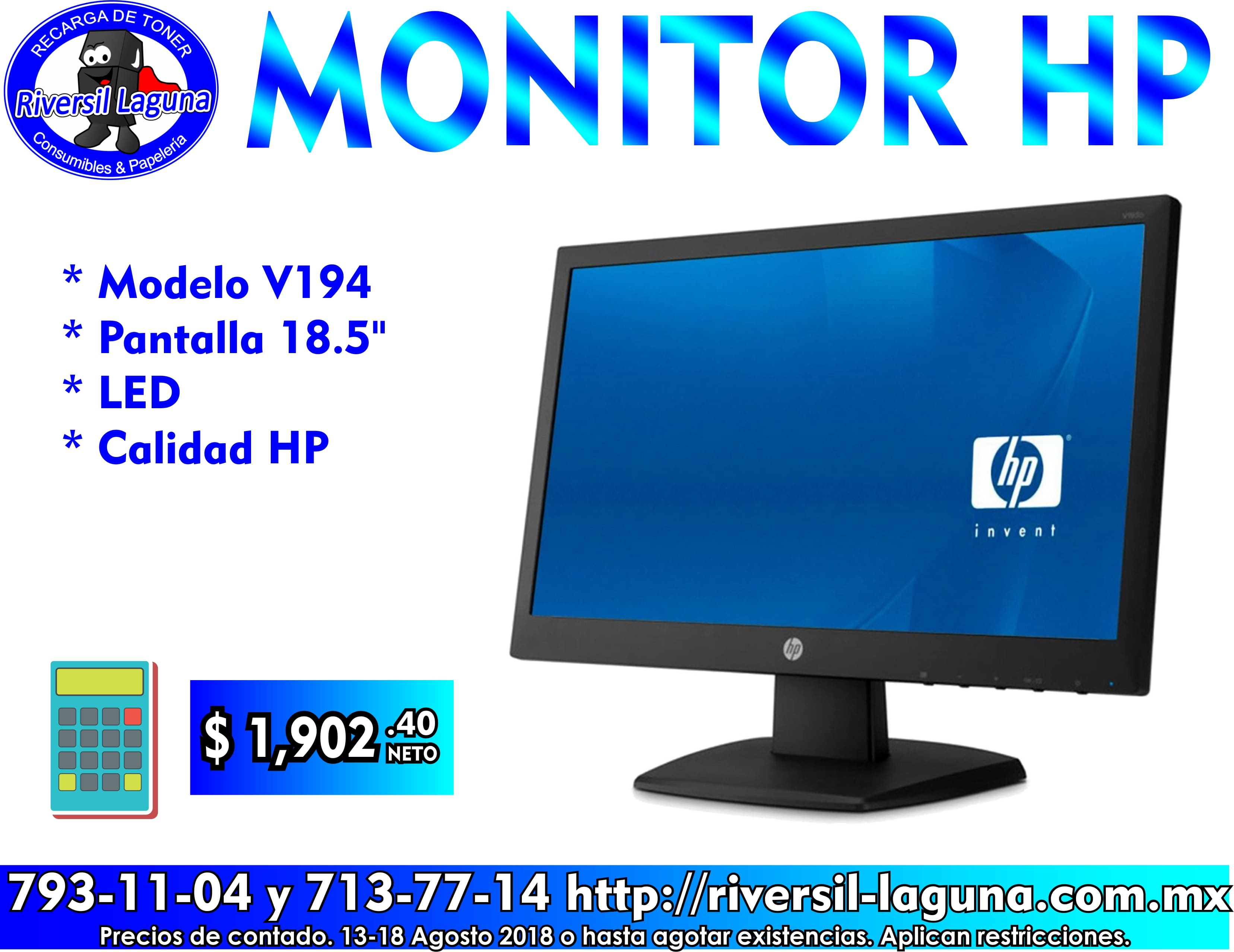 MONITOR HP V194