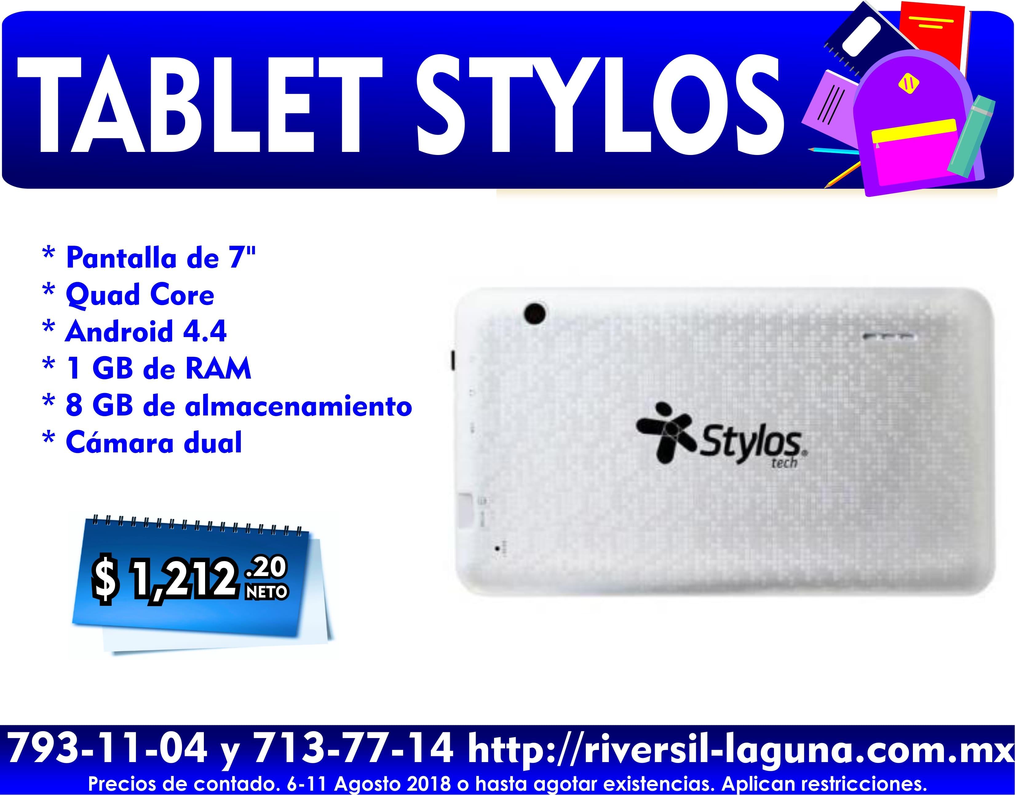 TABLET STYLOS PLATA
