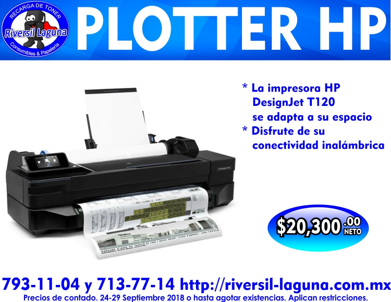 PLOTTER HP T120 DESIGNJET