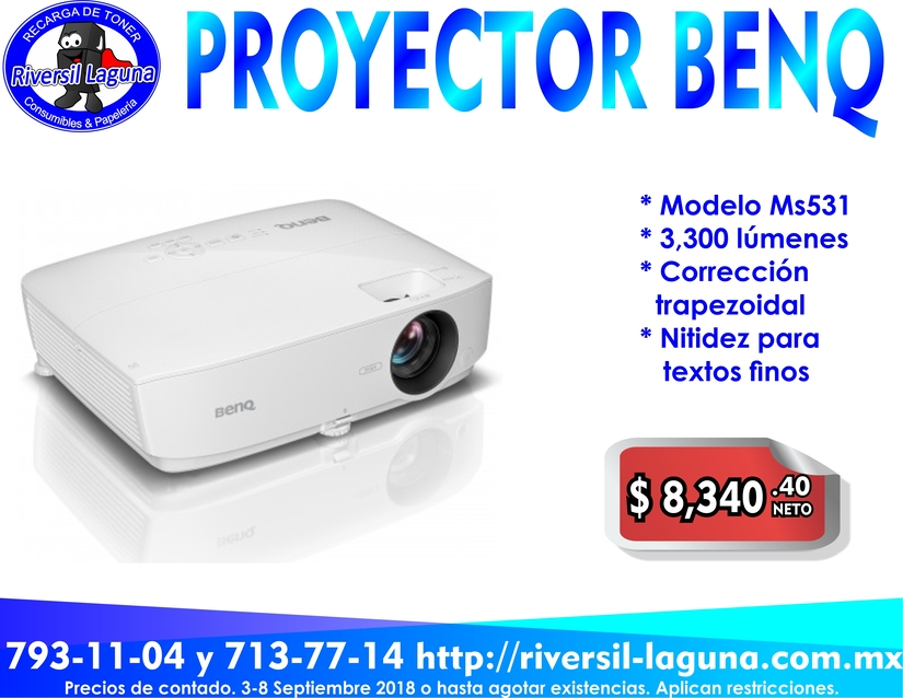 VIDEOPROYECTOR MS531 BENQ