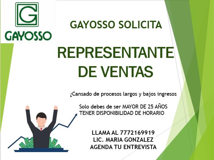 ASESOR DE VENTAS EN PLANES A FUTURO DE PREVISIÓN GAYOSSO
