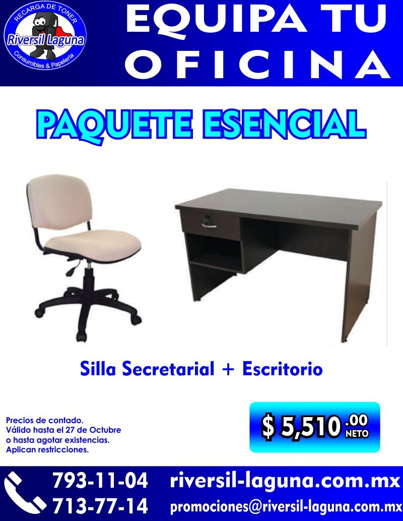 PAQUETE ESENCIAL DE MOBILARIO DE OFICINA
