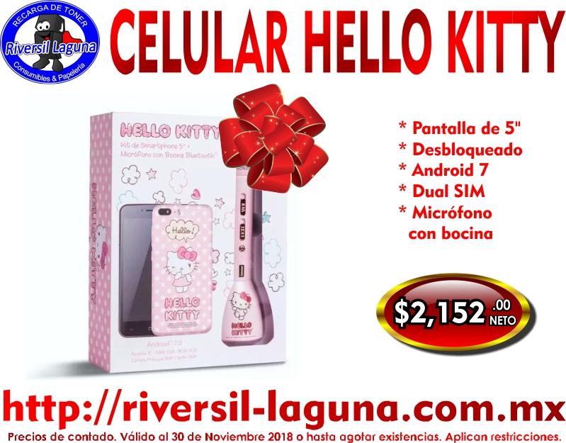 CELULAR HELLO KITTY CON MICROFONO Y BOCINA