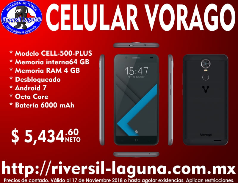 CELULAR VORAGO CELL-500 PLUS