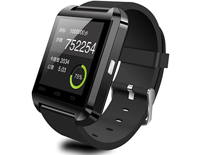 Smartwatch U8 Bluetooth iphone Android Reloj Inteligente (black)