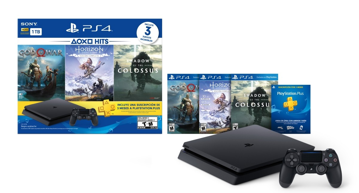 PlayStation 4 Hits 1TB con 3 juegos: God of War, Horizon Zero Dawn, Shadow of the Colossus – Bundle Edition