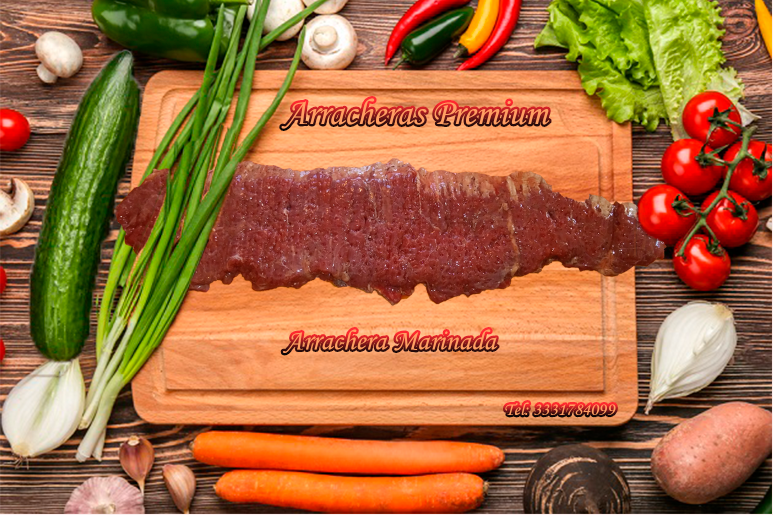 Arrachera Marinada, Arracheras Premium