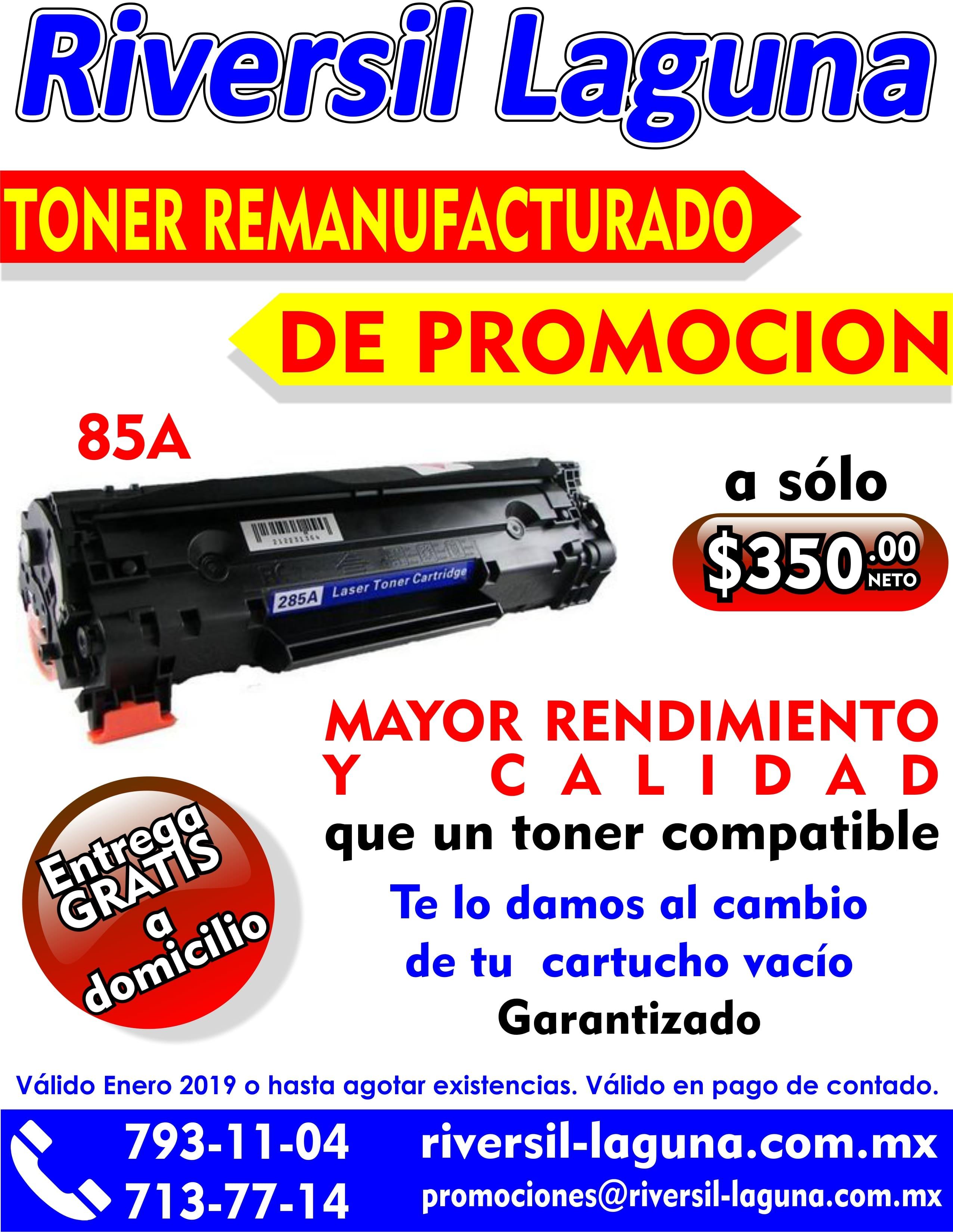 TONER REMANUFACTURADO 85A