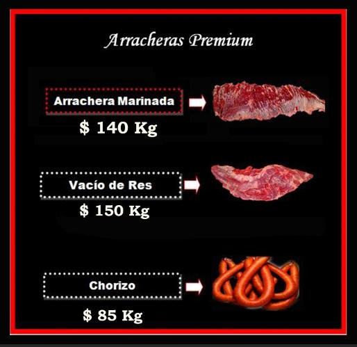 Arrachera Marinada, Arracheras Premium