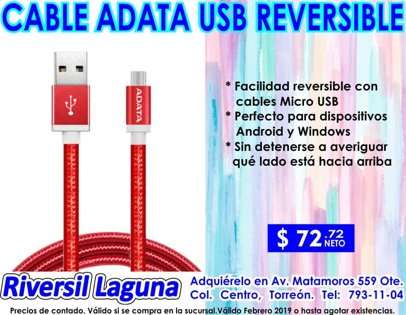 CABLE USB REVERSIBLE ADATA