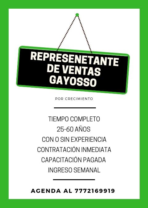 CONTRATACIÓN INMEDIATA // ASESOR DE VENTAS