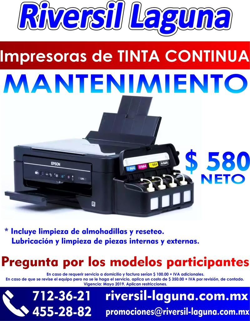MANTENIMIENTO DE IMPRESORAS DE TINTA CONTINUA